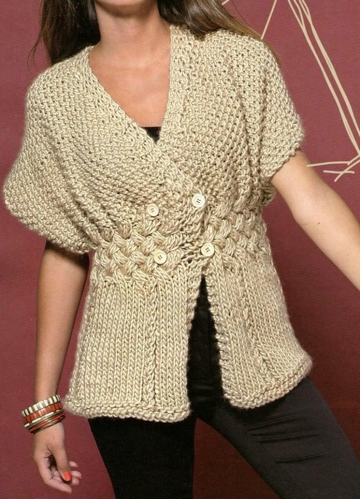Patrones de tejido gratis chaleco natural - Almazuelas patrones gratis ...