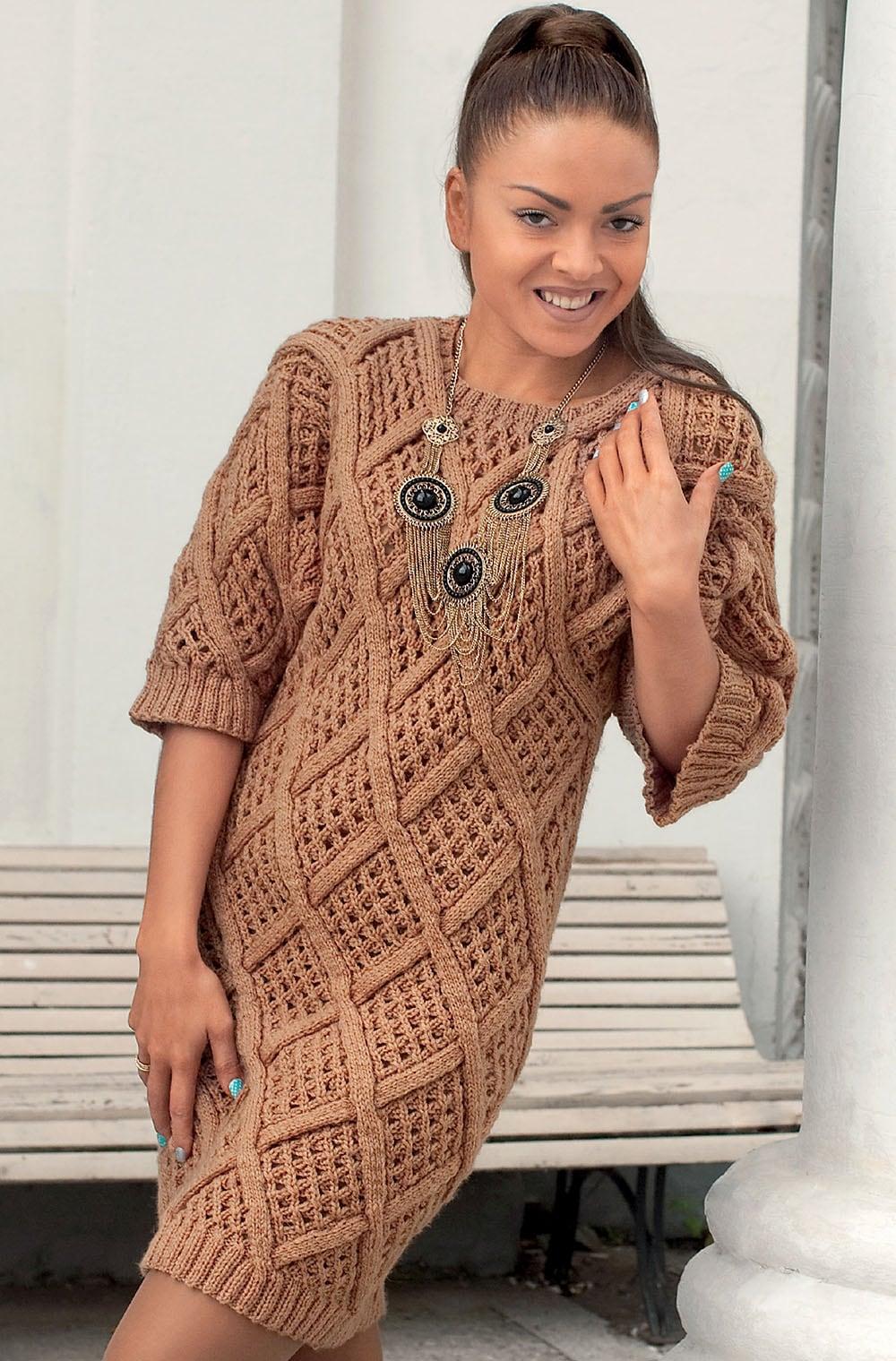 Patron vestido lana mujer
